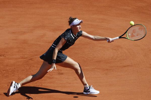 Markéta Vondroušová na Roland Garros 2019.