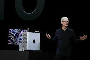 Na konferencii predstavil aj supervýkonný profesionálny počítač Mac Pro.