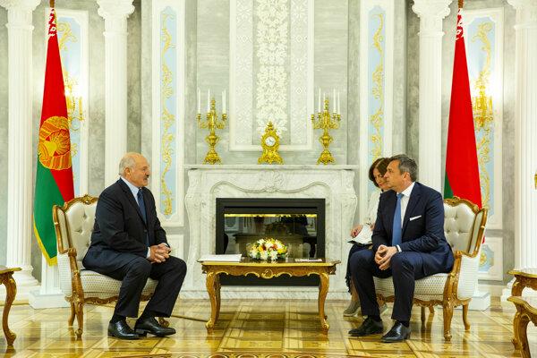 Andrej Danko (SNS) na stretnutí s bieloruským prezidentom Alexandrom Lukašenkom.