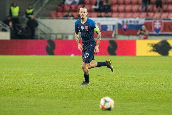 Marek Hamšík v drese slovenskej reprezentácie.