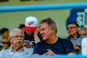 Bohumil Glezgo (vpravo), predseda správnej rady FK Pohronie.