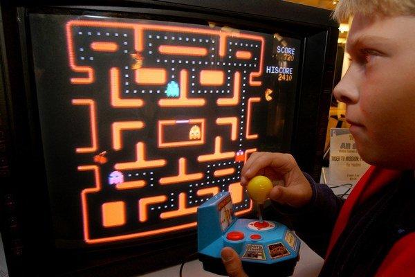 Hra Pac-Man.
