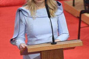 Zuzana Čaputová počas prejavu po zložení sľubu