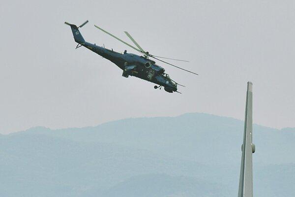 Vrtuľník Mi-24.