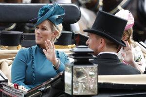 """Členka britskej kráľovskej rodiny Zara Tindall počas tretieho dňa, ktorý je """"Dňom dám""""."""