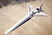 Vizualizácia experimentálneho nadzvukového lietadla X-59 QueSST.