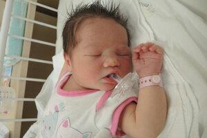 Michelle Bečárová (4100 g, 52 cm) sa narodila 18. júna Barbore a Jakubovi z Drietomy.