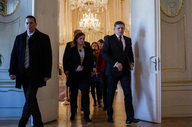 Róbert Fico u prezidenta.