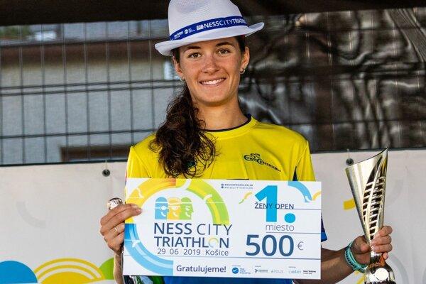 Druhýkrát si víťazstvo na NESS City Triathlon nenechala ujsť Košičanka Romana Gajdošová.