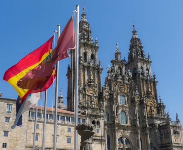 Katedrála v Santiagu de Compostela.