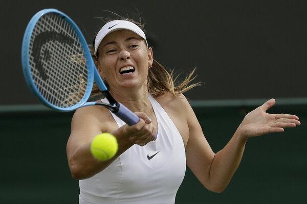 Maria Šarapova skrečovala v prvom kole Wimbledonu 2019.