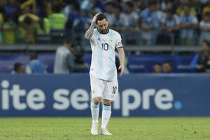 Lionel Messi v zápase semifinále Copa América 2019 Brazília - Argentína.