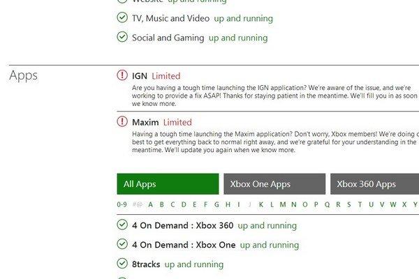 O nedostupnej službe informuje Xbox aj na svojej stránke.