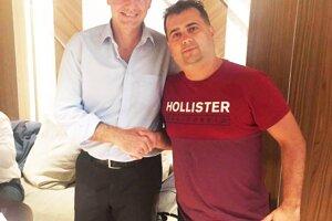 Martin Soboňa a Gianni Infantino, prezident FIFA.