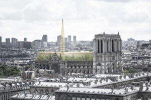 Jeden z návrhov na obnovenie Chrámu Matky Božej v Paríži.