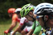 Peter Sagan (v zelenom drese) počas 15. etapy Tour de France 2019.