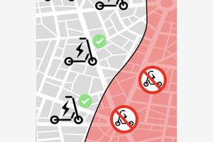 Aplikácia ukazuje aj mapku, kde je možné chodiť.