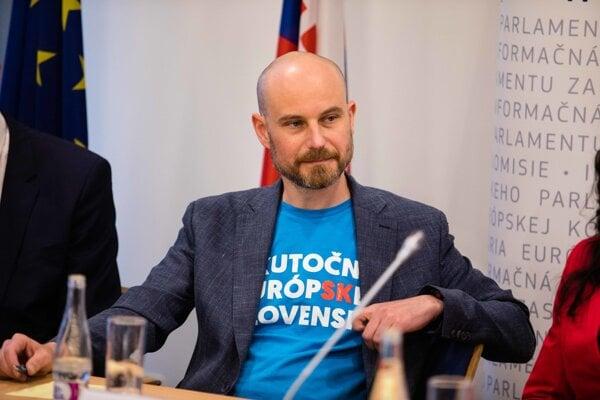 Poslanec Európskeho parlamentu Vladimír Bilčík kandidoval za koalíciu Progresívne Slovensko – Spolu–OD.