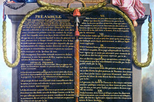 Deklarácia práv človeka a občana z augusta 1789.