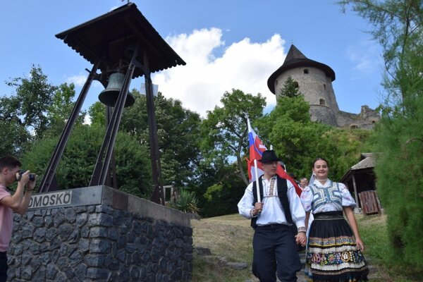 Zahájenie 24. ročníka Medzinárodného folklórneho festivalu pod Šomoškou.