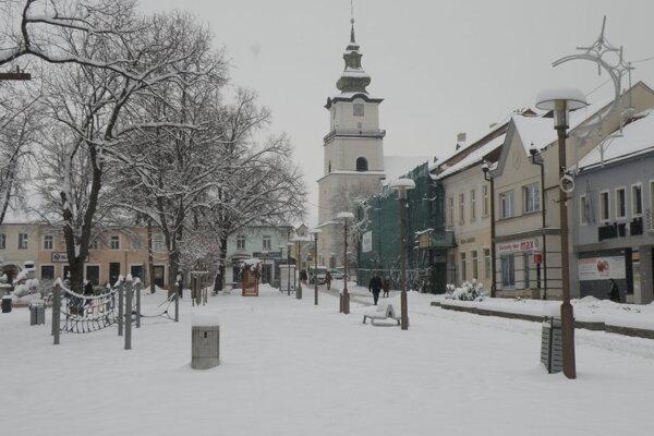 Zima v Prievidzi.