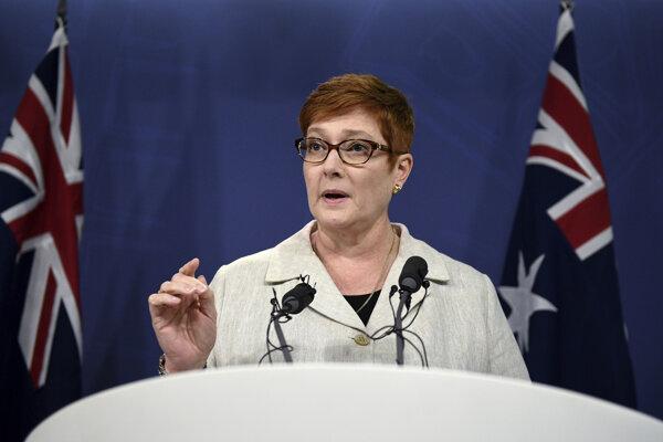 Austrálska ministerka zahraničných vecí Marise Payneová.