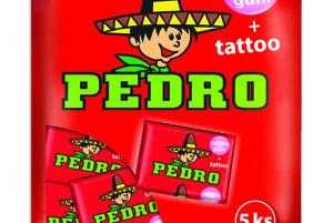 Pedro žuvačky.