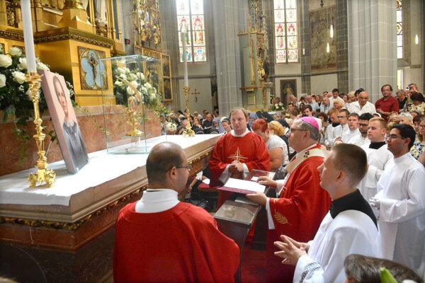 Relikvia Anny Kolesárovej pribudla v Dóme pred rokom.