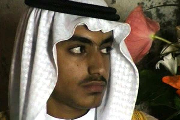 Hamza bin Ládin na zábere z roku 2017.