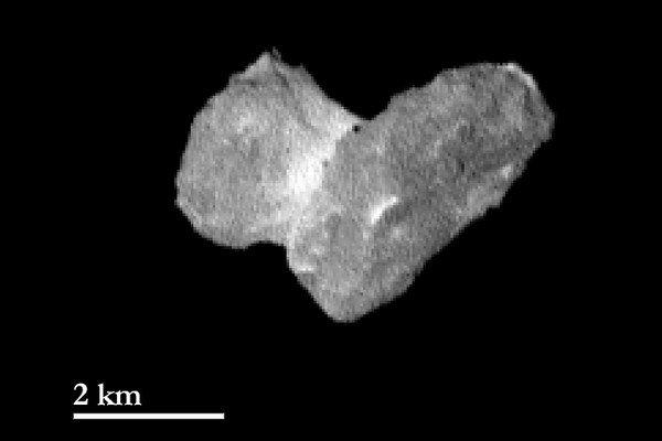 Kométa 67/P Čurjumov-Gerasimenko.