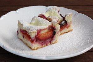 Slivkovo-tvarohový koláč