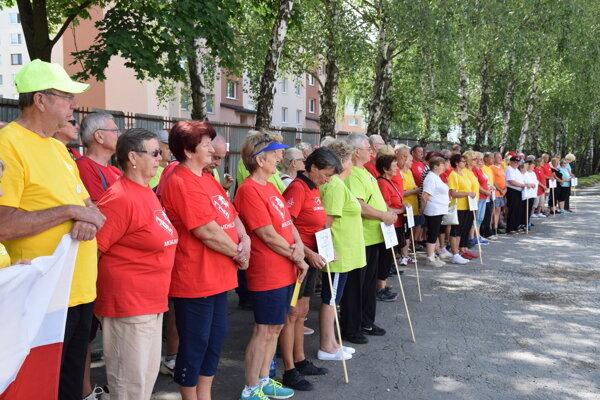 Športové hry seniorov v Michalovciach.