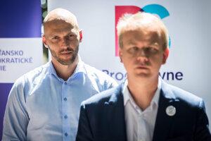 Líder PS Michal Truban (vľavo) a predseda Spolu Miroslav Beblavý (vpravo).