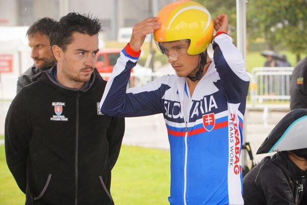 Michal Clementis so slovenským reprezentantom Jurajom Bellanom.