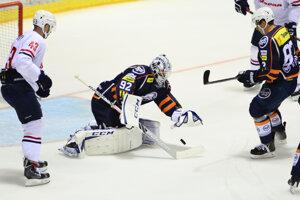 Ilustračná fotografia zo zápasu HC Slovan Bratislava - HC Košice.