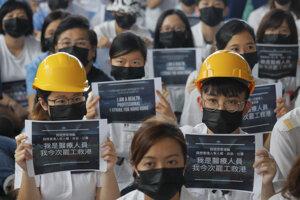 Demonštrácie v Hong kongu.