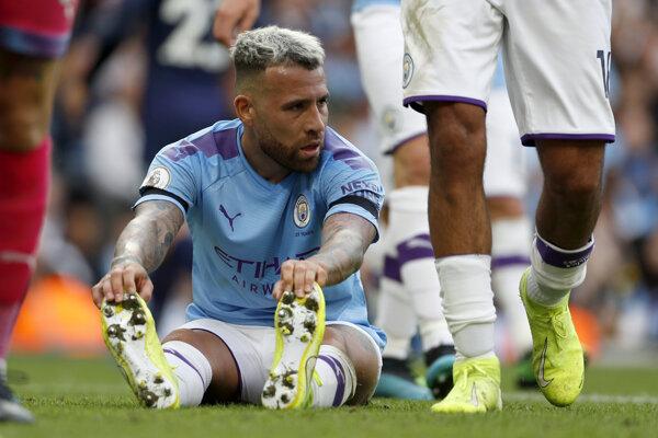 Nicolas Otamendi počas zápasu MAnchestru City proti Tottenhamu Hotspur.