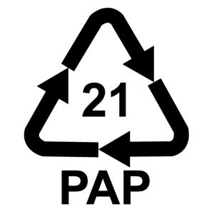 Recyklačná značka pre hladkú lepenku