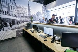 Nová stanica mestskej polície na Obchodnej.