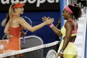 Maria Šarapovová a Serena Williamsová.