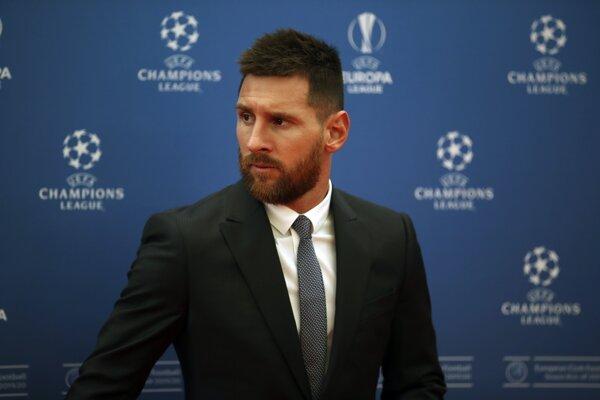 Lionel Messi prišiel na žrebovanie skupín Ligy majstrov.