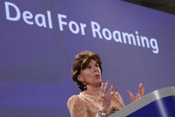 Eurokomisárka pre digitálnu agendu Neelie Kroesová.