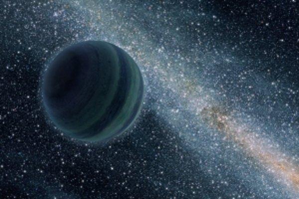 Umelecká vízia osamelej planéty bez slnka v temnote vesmíru. Medzinárodný tím astronómov ich zatiaľ našiel desať, no odhaduje, že v Mliečnej ceste ich môžu byť stovky miliárd, viac ako hviezd.