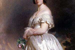 Kráľovná Viktória vo svojich svadobných šatách. V roku 1840 bola biela farba šiat nezvyčajná.