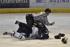 Momentka zo zápasu HC Košice - HC Slovan Bratislava.