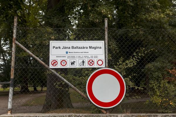 Park J.B.Magina v Dubnici nad Váhom.
