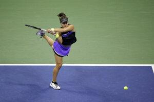 Bianca Andreescoá vo finále US Open 2019.
