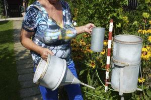 Mária Pekárová, meteorológia je záľubou oboch manželov, meracie prístroje majú i doma v záhrade.