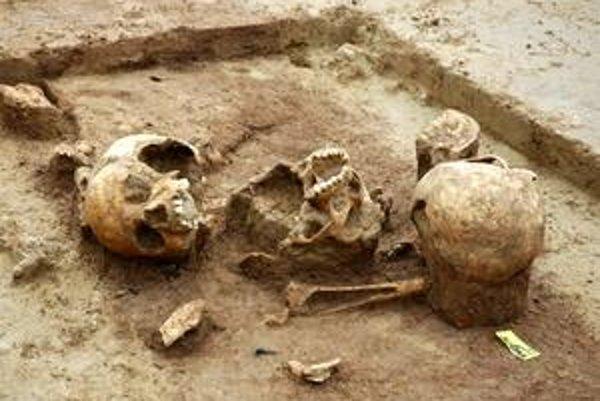 Ľudské lebky a kosti z Herxheimu nájdené v oválnej priekope, slúžiacej ako pohrebisko, nesú známky kanibalizmu.