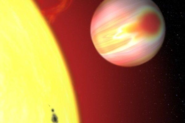 Exoplanéta obieha okolo svojej materskej hviezdy.